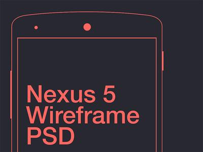 Nexus 5 Wireframe PSD