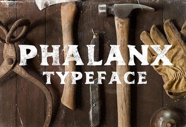 Phalanx free font
