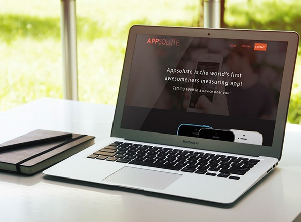 APPSOLUTE free landing page template