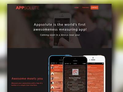 APPSOLUTE landing page template free