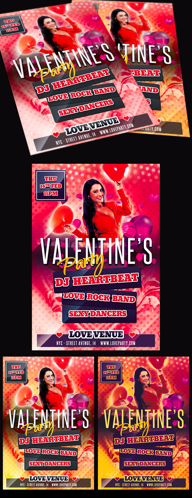 Free Valentine Party Flyer