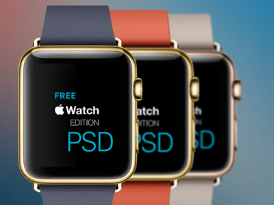 Apple Watch Edition PSD