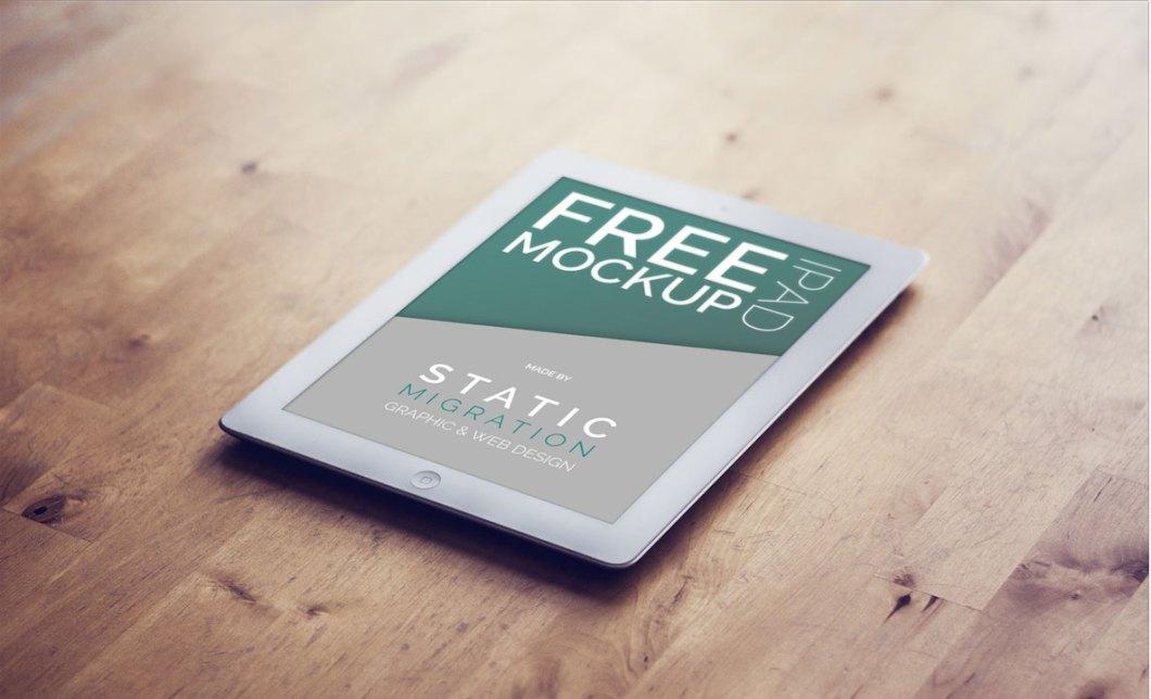 FREE MOCK-UPS PSD IPAD