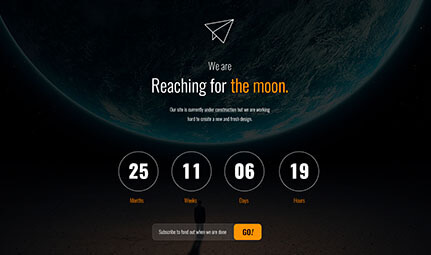 Free HTML Coming Soon Countdown Page