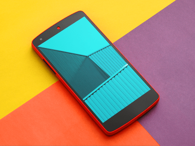 Free Nexus 5 mockup from Shakuro