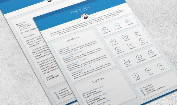 Free Psd Resume Template  Update Resume Free