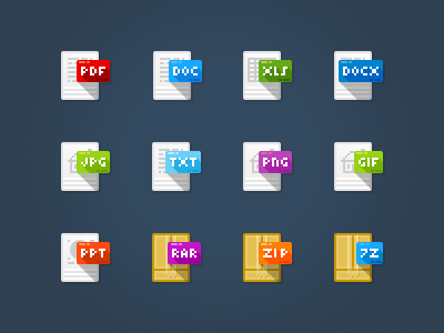 Freebie file type icons