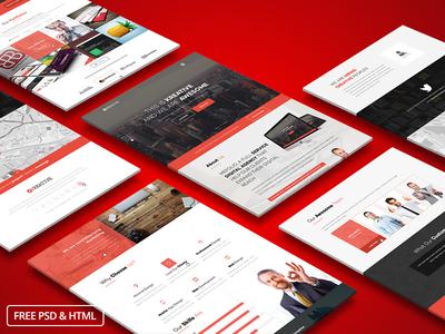 KreFolio-Startup Agency Landing Page Template