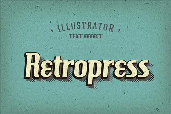 Retropress Illustrator Text Effects Free Download