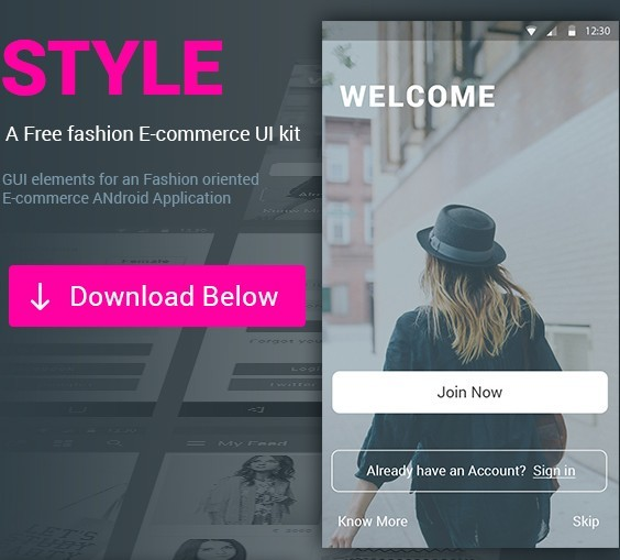 STYLE e-commerce app UI KIT - Free Download