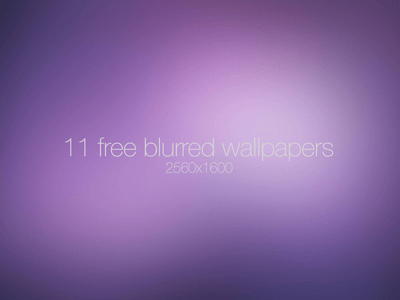 11 Free Blurred Wallpapers