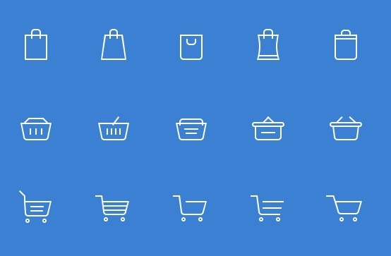 15 Free Shopping Cart Icons