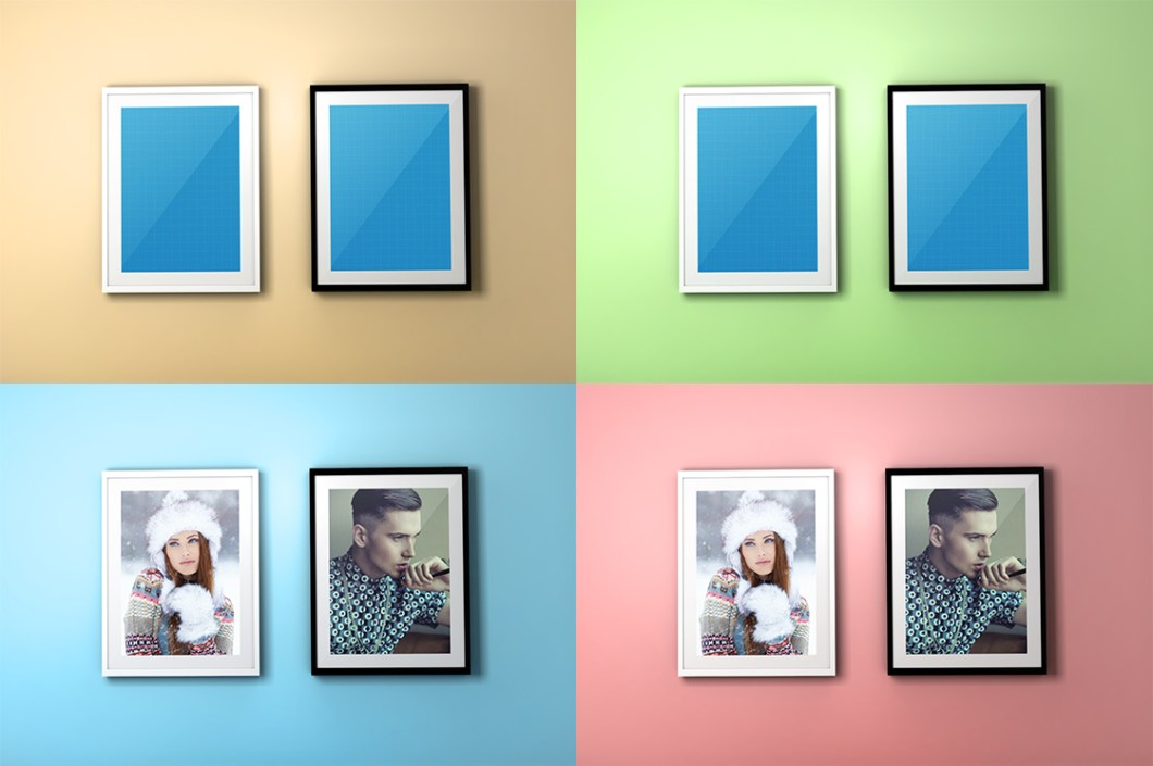 FREE Colourful Frame PSD Mockups