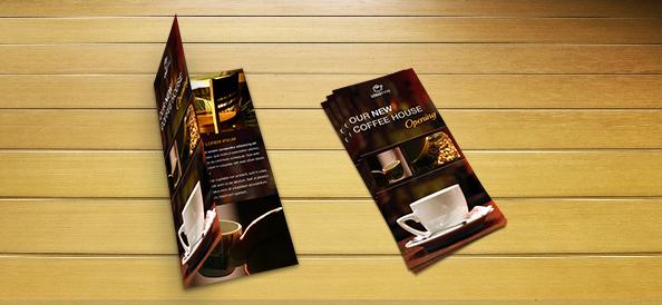 Free PSD Coffee Brochure Template