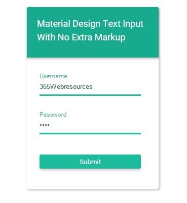 Material Design Input Text