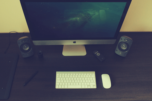 Photorealistic iMac Mock-Up Scene vol. 2