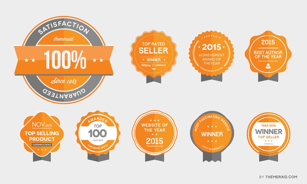 Vector-Psd-Award-Badges