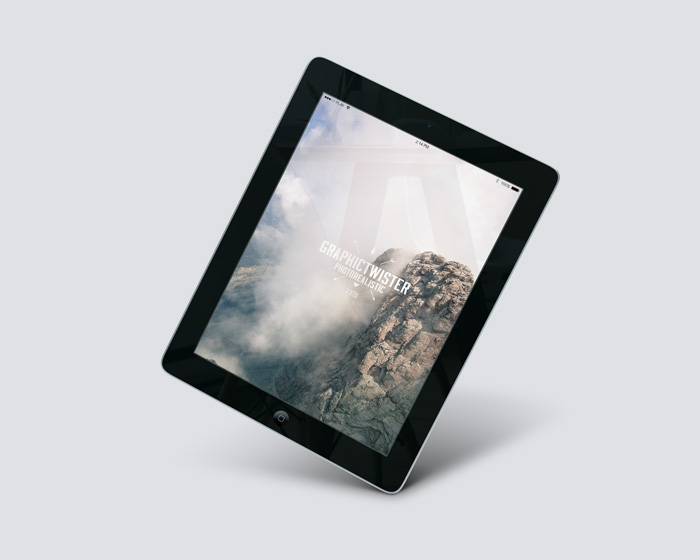 iPad 2 Air Perspective Mockup