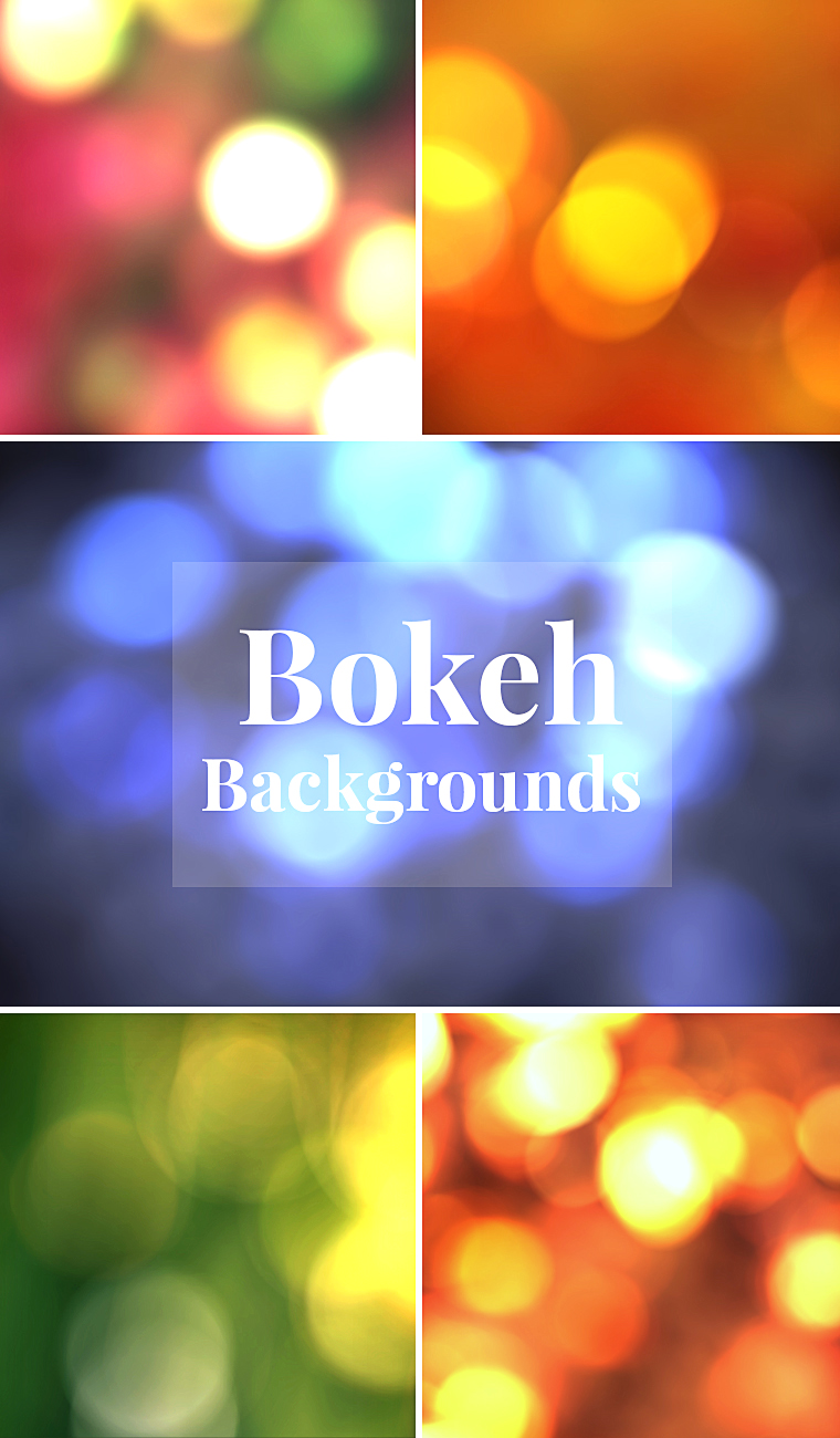 5 Bokeh Backgrounds – Freebie