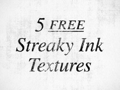 5 streaky ink textures