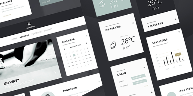 Clean UI kit (PSD)