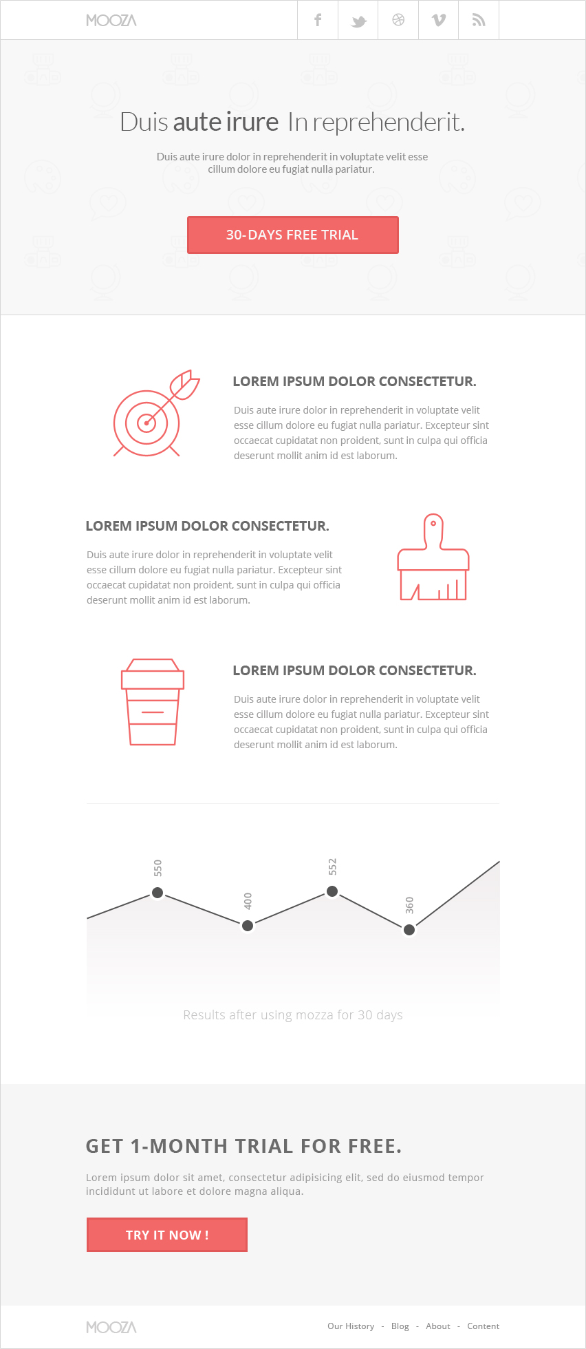 Free PSD Email Newsletter Template