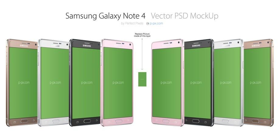 Galaxy Note 4 PSD MockUp