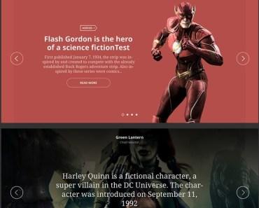 Hero UI. Free PSD