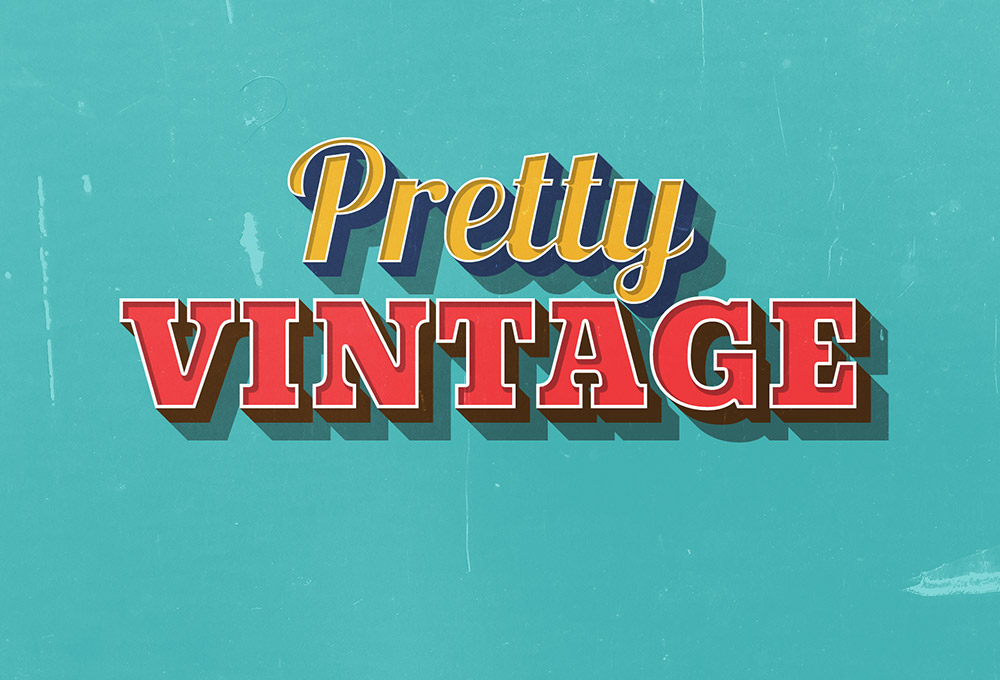 Pretty Vintage Text Effect