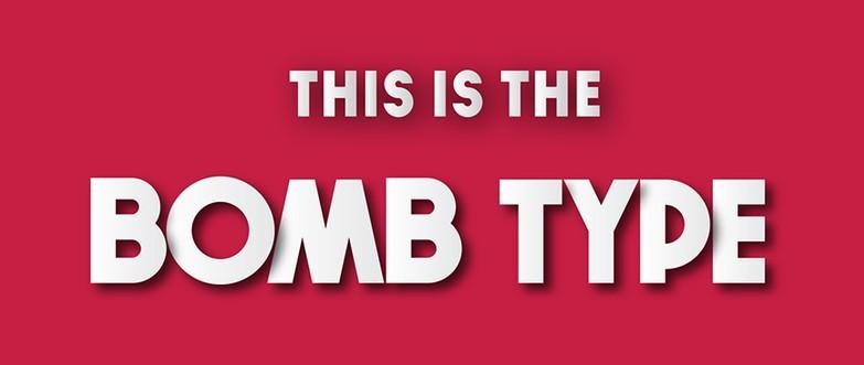 BOMB Free Typeface