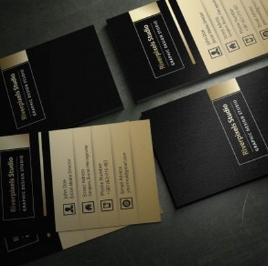 Free Dark Gold Business Card