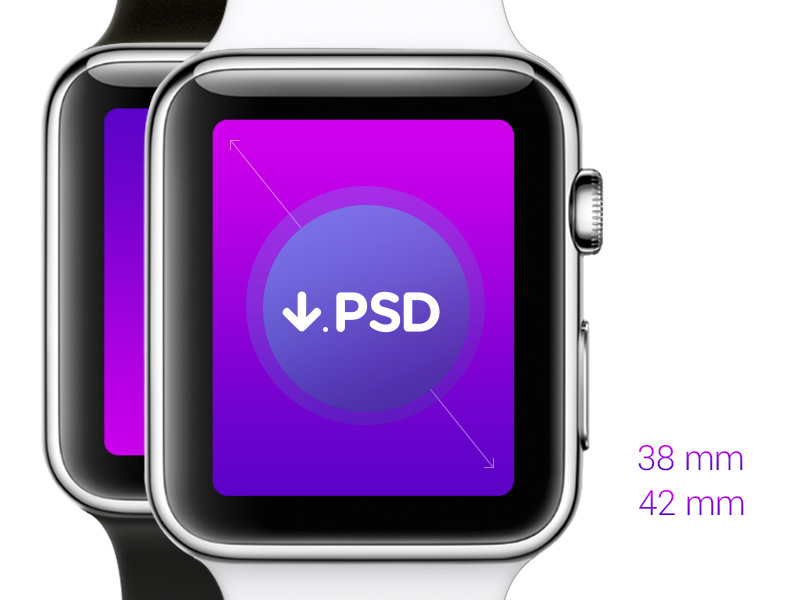 Free Download Psd iWatch Template