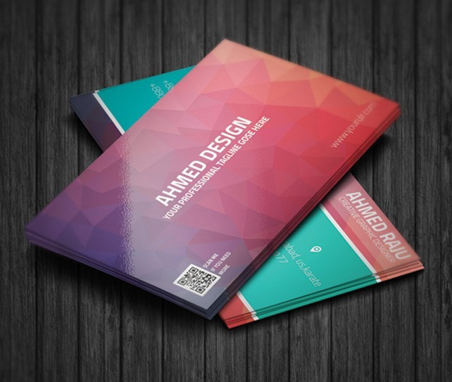 Freebie Creative Polygonal Business Card