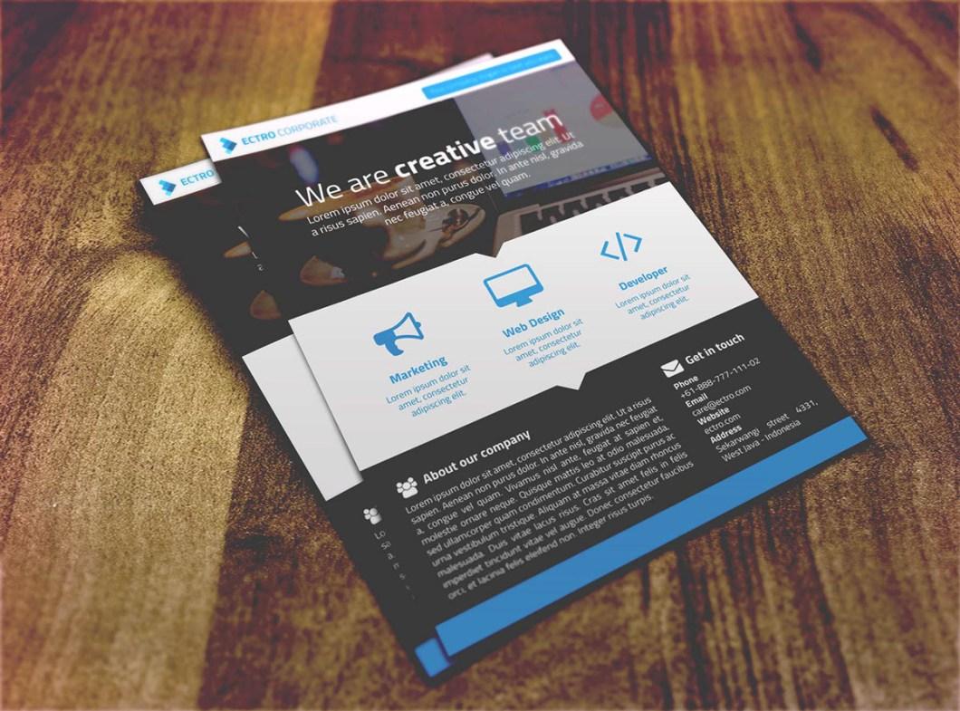 Freebie Ectro Corporate Flyer PSD Template