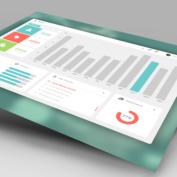 YONO Dashboard UI Kit Free PSD