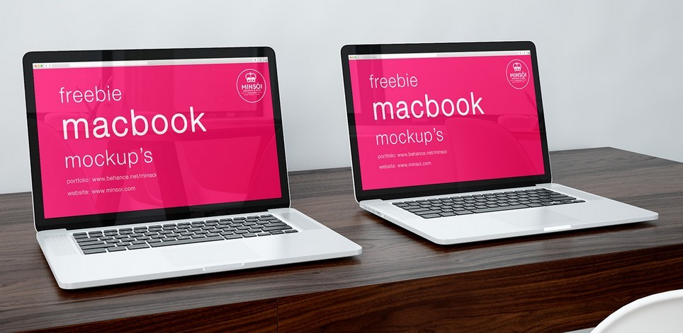 Macbook Collection PSD Mockups