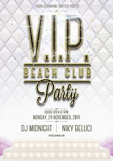 VIP Beach Club Flyer Template