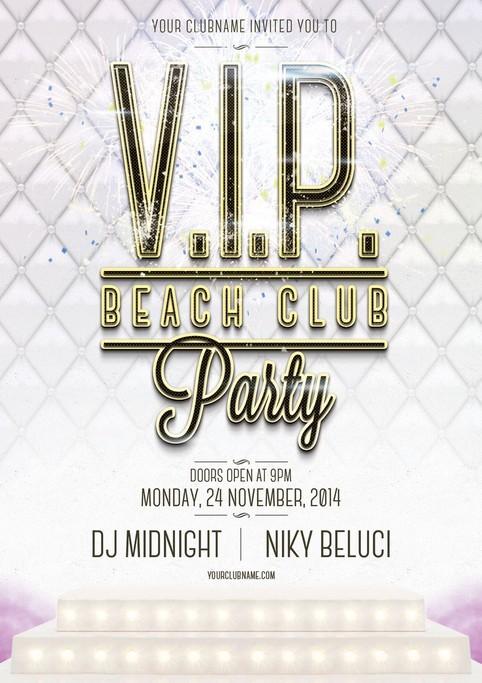 VIP Beach Club Flyer Template