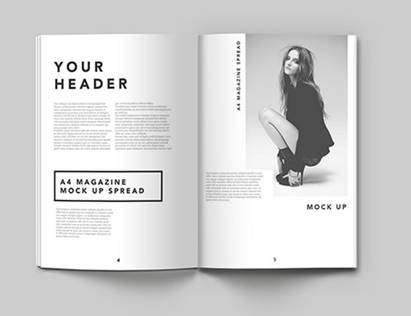 A4 MAGAZINE PSD MOCK UP TEMPLATE