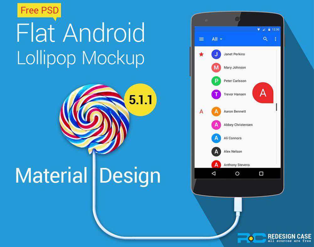 Android Lollipop GUI Kit