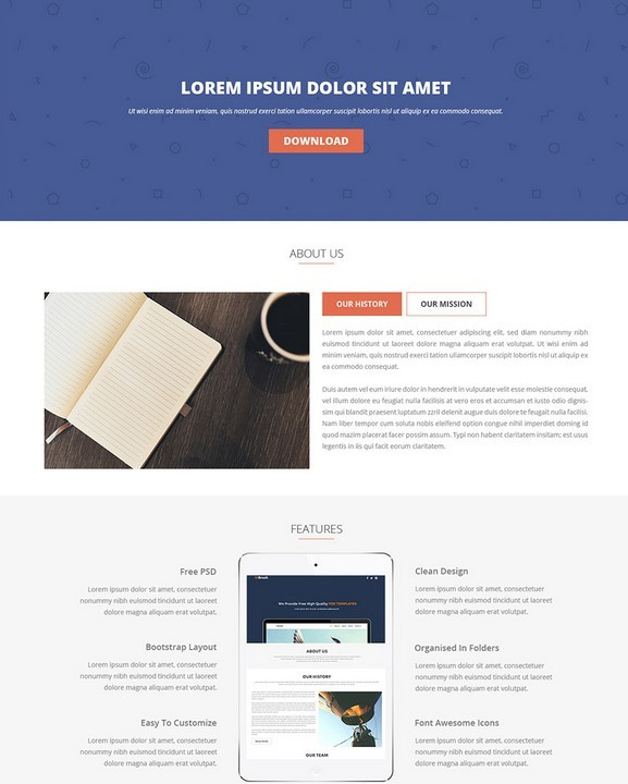 FREE LANDING PAGE PSD TEMPLATE DOWNLOAD