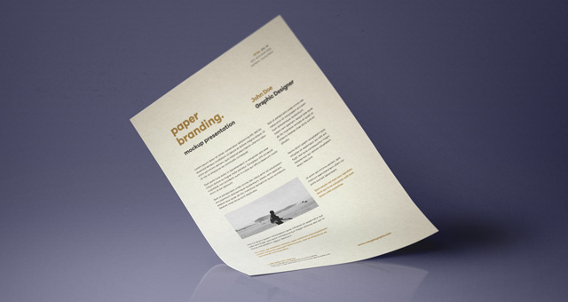 Psd A4 Paper Mock-Up Vol7