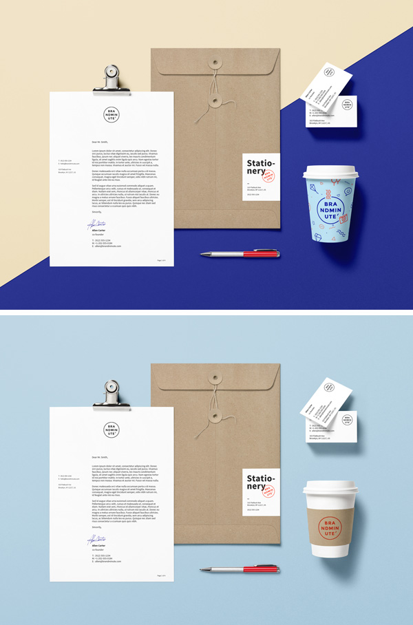 Branding & Identity MockUp Vol15