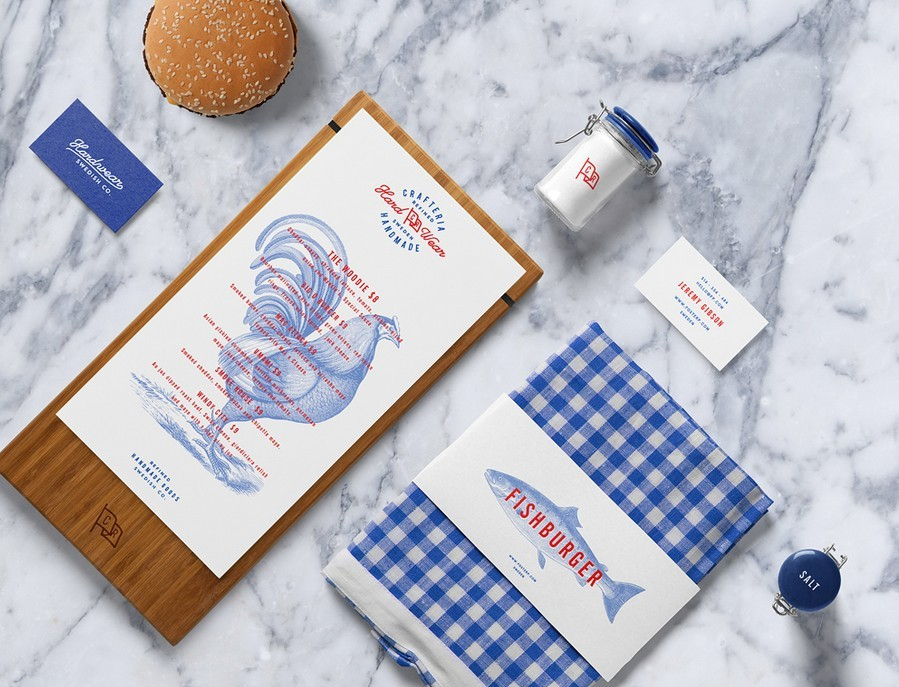 Burger Bar Stationery PSD Mockup