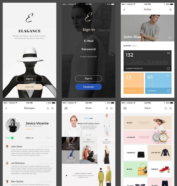 Elegance iOS UI Kit Free