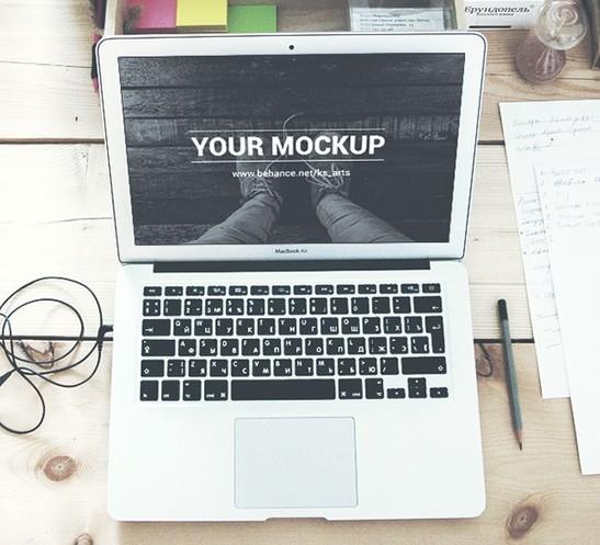 MacBook Air 13 - 2 PSD Mockups