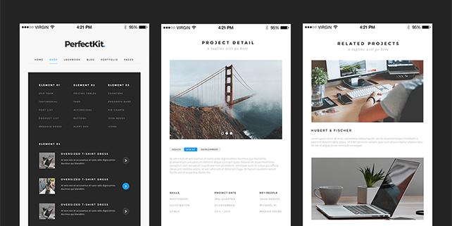 PerfectKit – modern UI kit (desktop & mobile ready)