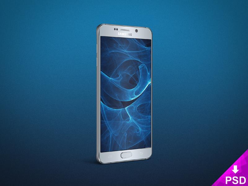 Samsung Galaxy Note 5 Angle Mockup