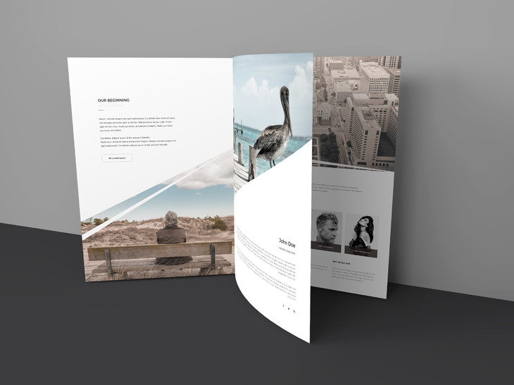 Three Page Brochure Mockup