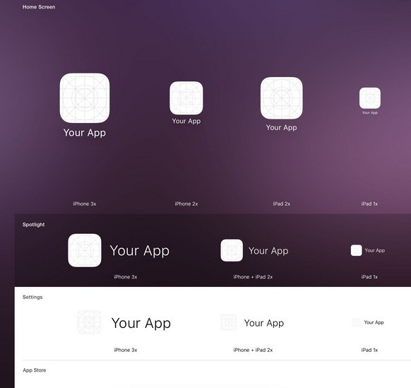 iOS 9 App Icon Template